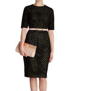 Ted Baker London Black Araa Heavy Lace Midi Dress